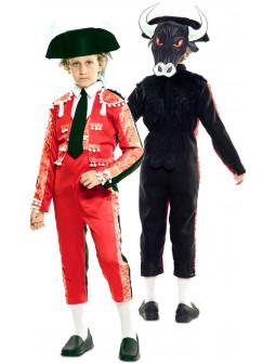 Disfraz Doble Torero y Toro para Niño