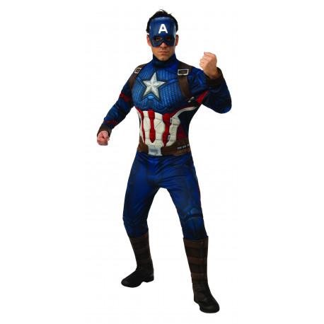 Disfraz de Capitán América Endgame Musculoso para Hombre