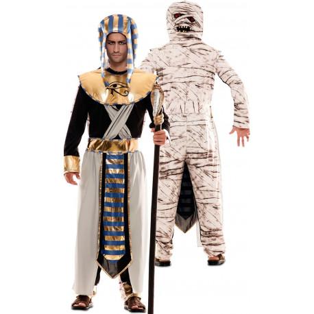 Disfraz Doble de Egipcio y Momia para Adulto