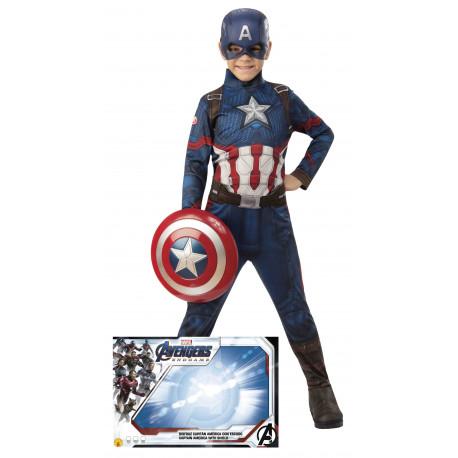 Disfraz de Capitán América con Escudo para Niño