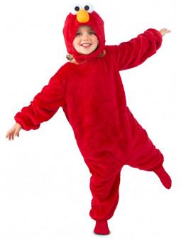 Disfraz de Elmo de Peluche Barrio Sésamo para Niño