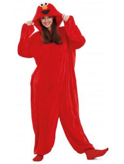 Disfraz de Elmo Pijama Barrio Sésamo para Adulto