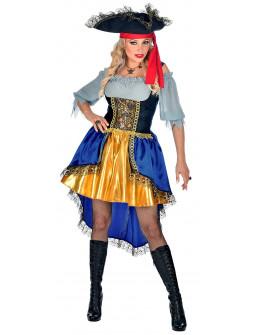 Disfraz de Capitana Pirata Estilosa para Mujer