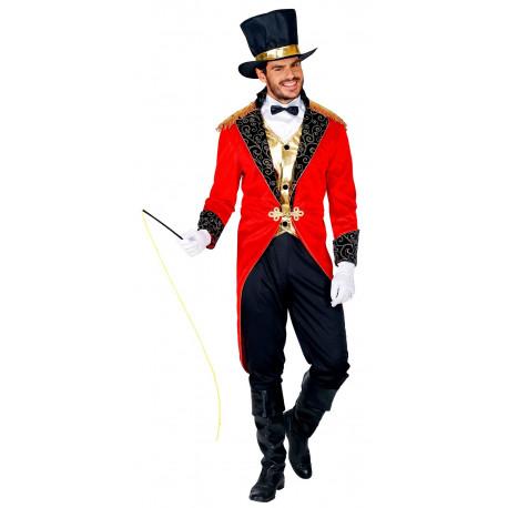 Disfraz de Domador con Frac Rojo para Hombre