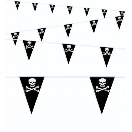 Guirnalda con Banderines de la Bandera Pirata