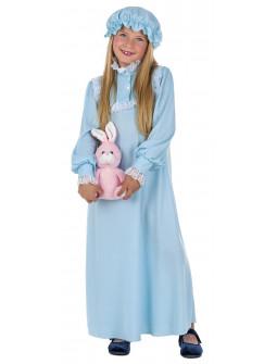 Disfraz de Wendy con Camisón Azul para Niña