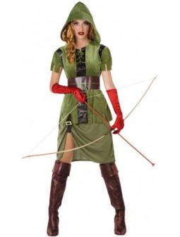 Disfraz de Arquera Medieval del Bosque para Mujer