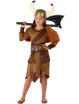 Disfraz de Vikinga Bárbara para Niña