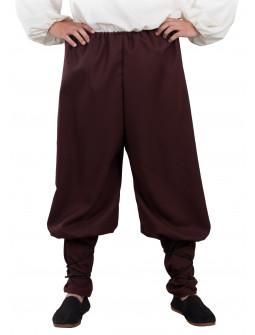 Pantalón Medieval Marrón Ancho para Adulto
