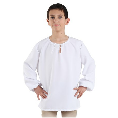 Camisa Medieval Blanca para Niño
