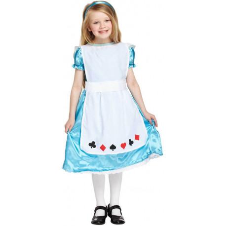 Disfraz de Alicia Poker para Niña