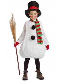 Disfraz de Muñeco de Nieve con Bufanda para Niño