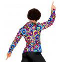 Camisa Disco Años 70 Psicodélica para Hombre