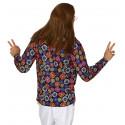 Camisa Hippie con Flores de Colores para Hombre
