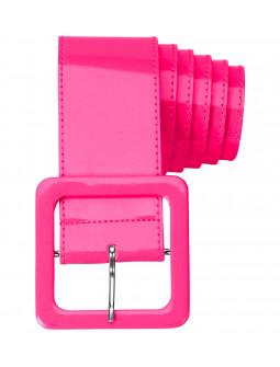 Cinturón Rosa Ancho de Vinilo