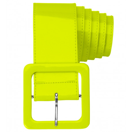 Cinturón Amarillo Ancho de Vinilo