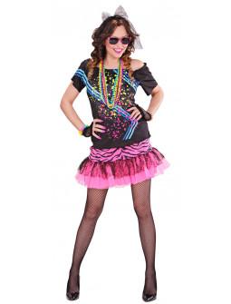 Disfraz de Mujer Rock años 80s