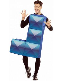 Disfraz de Tetris Azul Oscuro para Adulto