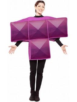 Disfraz de Tetris Morado para Adulto