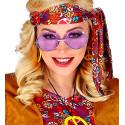 Gafas Hippies Violeta Estilo Años 70