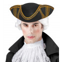 Sombrero de Época Negro Decorado en Dorado
