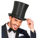 Sombrero de Copa Alta Negro Acampanado