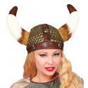 Casco Vikingo de Polipiel con Cuernos