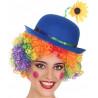 Sombrero de Payaso Azul con Flor