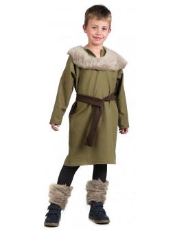 Disfraz de Vikingo Verde para Niño