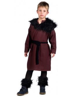 Disfraz de Vikingo Granate para Niño