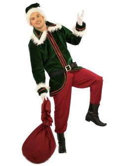 Disfraz de Elfo de Navidad Premium para Hombre