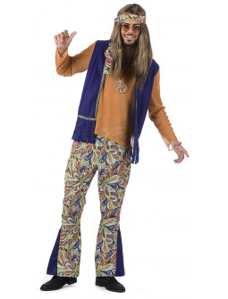 Disfraz de Hippie Psicodélico Premium para Hombre