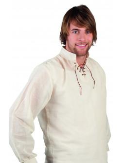 Camisa de Campesino Medieval Beige para Hombre