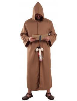 Disfraz de Monje con Cepo de Castidad para Hombre