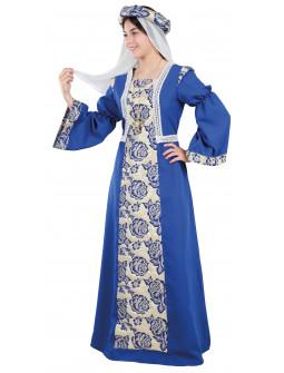 Disfraz de Condesa Medieval Azul para Mujer