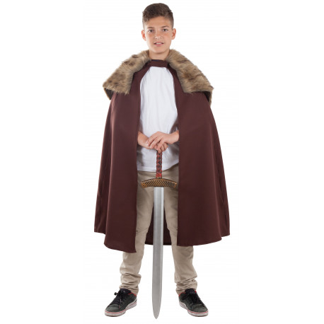 Capa de Vikingo Marrón Infantil