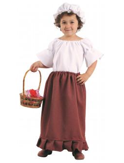 Disfraz de Campesina Medieval Infantil