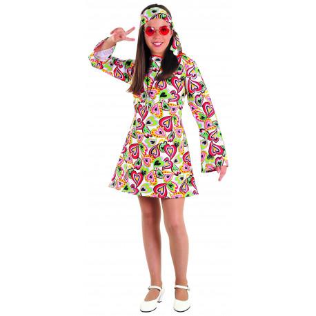 Disfraz de Hippie Años 70 para Niña