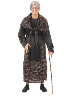 Disfraz de Abuela con Pañuelo para Adulto