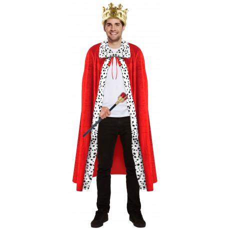 Capa de Rey Roja con Ribete de Dálmata