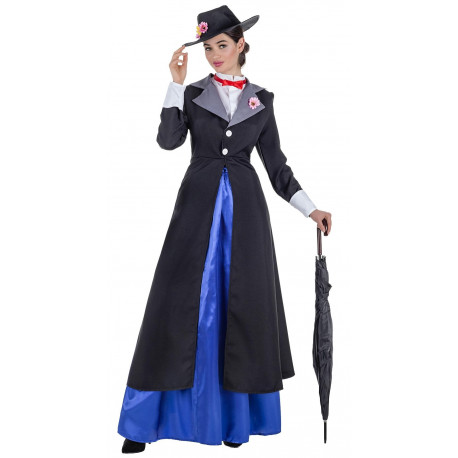 Disfraz de Mary Poppins con Chaqueta para Mujer