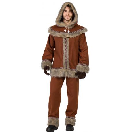 Disfraz de Esquimal Nórdico Marrón para Hombre