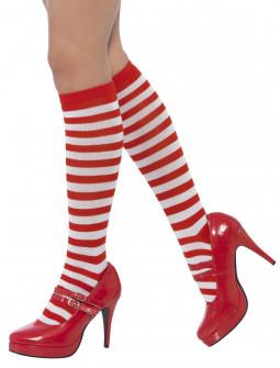 Calcetines de Rayas Rojas y Blancas para Adulto