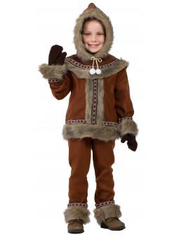 Disfraz de Esquimal Nórdico Marrón para Niño