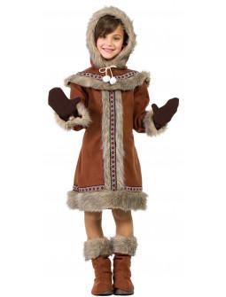 Disfraz de Esquimal Nórdica Marrón para Niña