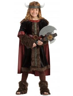Disfraz de Guerrero Vikingo Negro para Niño
