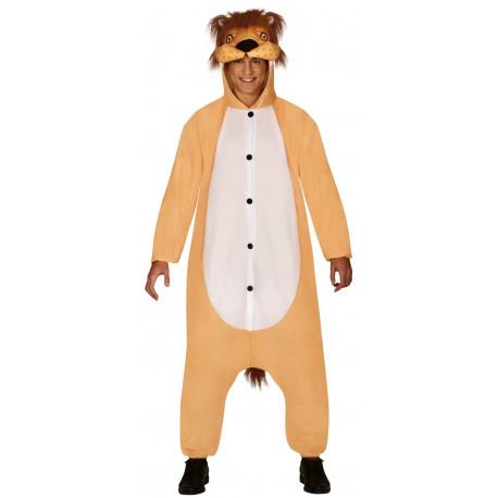 Disfraz de León Pijama para Adulto