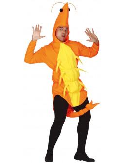Disfraz de Gamba Naranja para Adulto