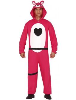 Disfraz de Oso Rosa Fortnite para Adulto
