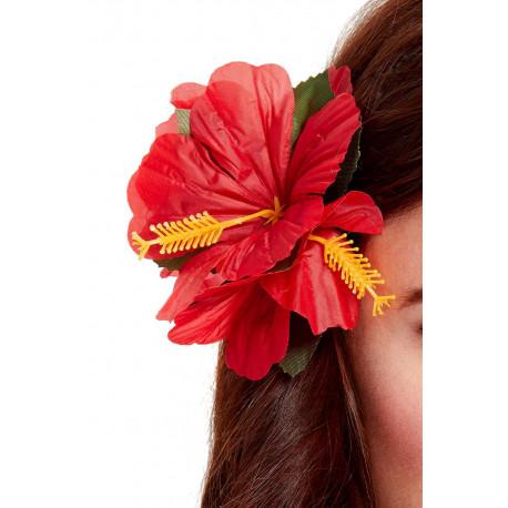 Flor Hawaiana Roja para el Pelo